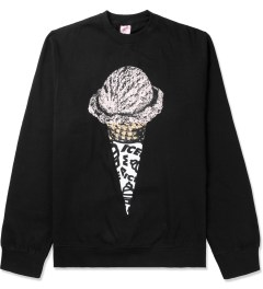 ICECREAM Black Lux Cone Crewneck Sweater Picutre