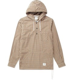 "Bedwin & The Heartbreakers Brown ""Alan"" Faded Shirts L/S Pullover Hoodie Picture"