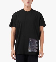 Uppercut Black Coated Spikes Zip Pocket T-Shirt Model Picture