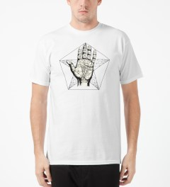 Black Scale White Left Hand Path T-Shirt Model Picture