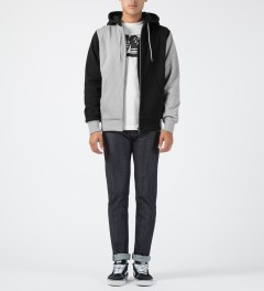 Hall of Fame Black Multi Zip-Up Hoodie Model Picture