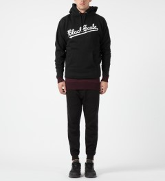 Black Scale Black Strikeout Pullover Hoodie Model Picture