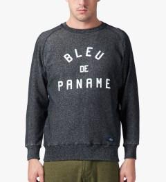 Bleu De Paname Noir Raglan BD Sweater Model Picutre