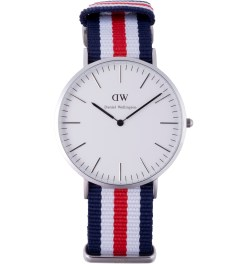 Daniel Wellington Nato Silver Classic Canterbury 40mm Watch Picture