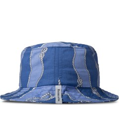 Raised by Wolves Blue Sailor's Knot Gatineau Bucket Hat Model Picutre