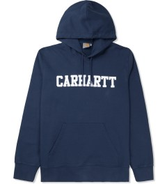 Carhartt WORK IN PROGRESS Jupiter/White Hooded College Sweater Picture