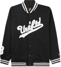 Undefeated Black Script Varsity Jacket Picture