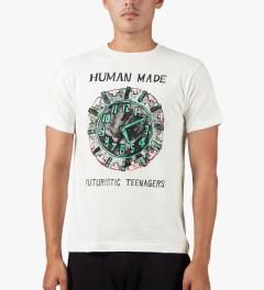 Human Made White Clock T-Shirt Model Picutre
