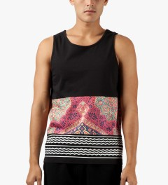 Black Scale Black Holy Land Tank Top Model Picture