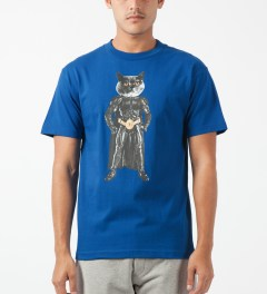 Odd Future Royal Blue Mellowhype Batcat T-Shirt Model Picture