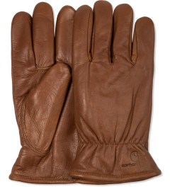Carhartt WORK IN PROGRESS Hamilton Brown Lined Leather Gloves Picutre