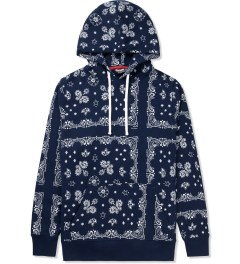 Undefeated Navy Bandana Pullover Hoodie Picture