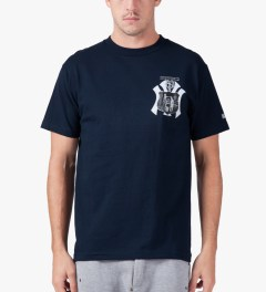 Hall of Fame Navy Valor T-Shirt Model Picture