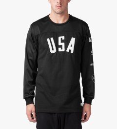 Stampd Black USA Panel L/S Jersey Model Picture