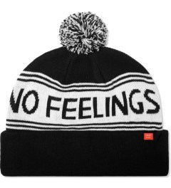 Lazy Oaf Black No feelings Bobble Beanie Picture
