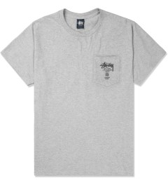 Stussy Heather Grey World Tour S/S Pocket T-Shirt Picture