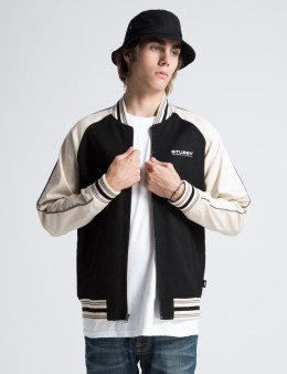 Stussy Black Twill Varsity Jacket Picture