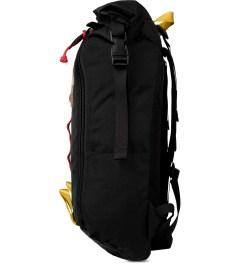 TOPO DESIGNS Black Roll Top Backpack Model Picture