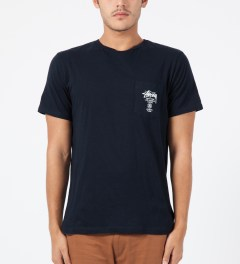 Stussy Navy World Tour S/S Pocket T-Shirt Model Picture