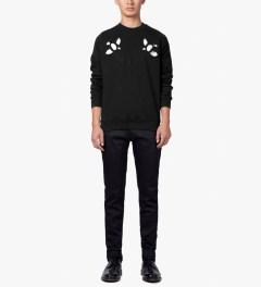 Carven Black Cut Out Molleton Coat Sweater Model Picture