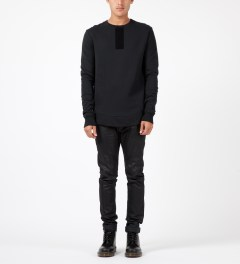 SILENT Damir Doma Black Sylar Crewneck Sweater Model Picture