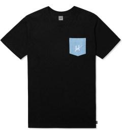 HUF Black Script Denim Pocket T-Shirt Picutre