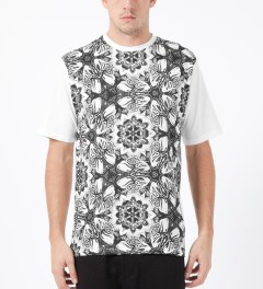 Black Scale White Hand of Satan T-Shirt Model Picture