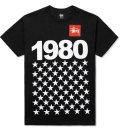 Stussy Black 1980 Stars T-Shirt Picutre