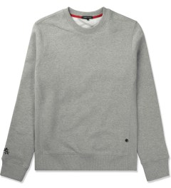 Surface to Air Grey Melange Classic Crewneck Sweater Picutre