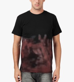 Libertine-Libertine Black/Pink Print Brake Photo Complex T-Shirt Model Picutre