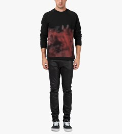 Libertine-Libertine Black/Pink Print Brake Photo Sweater Model Picutre