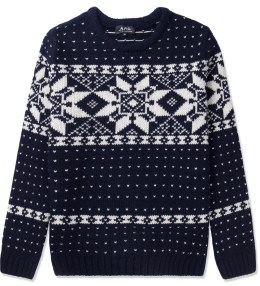 A.P.C. Dark Navy Yeti Snow Pullover Sweater Picture