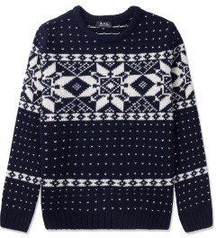 A.P.C. Dark Navy Yeti Snow Pullover Sweater Picutre