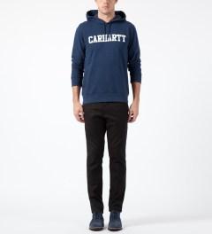 Carhartt WORK IN PROGRESS Jupiter/White Hooded College Sweater Model Picture