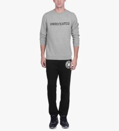 Undefeated Heather Grey Basic Block Sweater Model Picutre