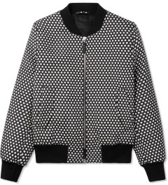 ami Black/White Polka Dot Bomber Jacket Picture