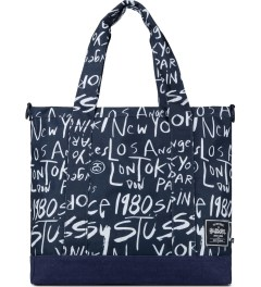 Stussy Navy Stussy x Herschel Supply Co. Cities Tote Bag Picutre