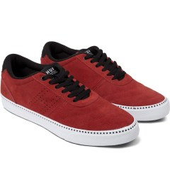 HUF Red/Black Galaxy Shoes Model Picutre
