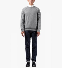 A.P.C. Grey Central Park Sweater Model Picutre