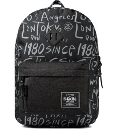 Stussy Black Print Stussy x Herschel Supply Co. Cities Backpack Picutre