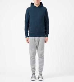 Reigning Champ Navy/Pacific RC-3258 Tiger Fleece L/S Pullover Hoodie Model Picture