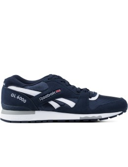 Reebok Athletic Navy/White/Tin Grey GL 6000 Sneakers Picture