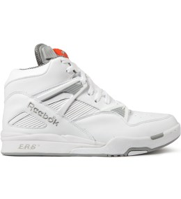 Reebok White/Grey Pump Omni Zone Shoes Picture