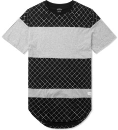 Stampd Black/Grey The Gridded Panel T-Shirt Picture