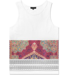 Black Scale White Holy Land Tank Top Picture