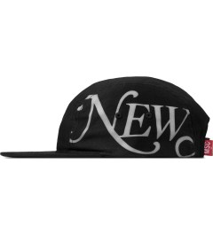 Mott Street Cycles Black New York 5-panel Cap Model Picutre