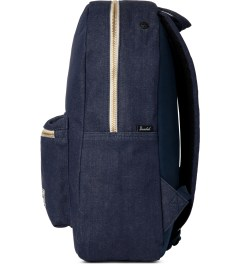 Herschel Supply Co. Indigo Denim/Navy Coated Cotton Settlement Canvas Backpack Model Picture