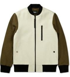 Christopher Raeburn Cream/Khaki Wool Bomber Jacket Picture