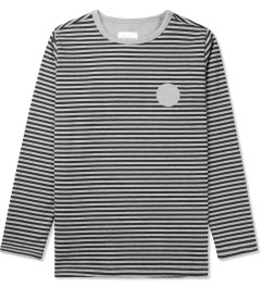 SATURDAYS Surf NYC Grey Heather Alek Printed Stripe L/S T-Shirt Picutre