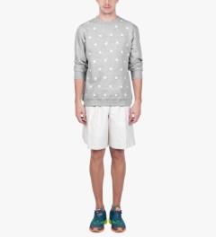CLSC Heather Grey Stars Crewneck Sweater Model Picutre